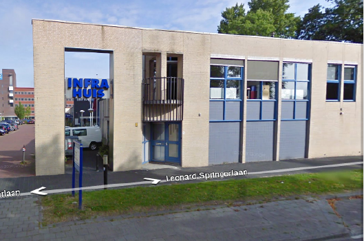 Picture of the front of the Infrahuis Noord from Google Maps.